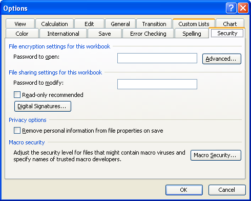 Enabling password rules for Office 2010